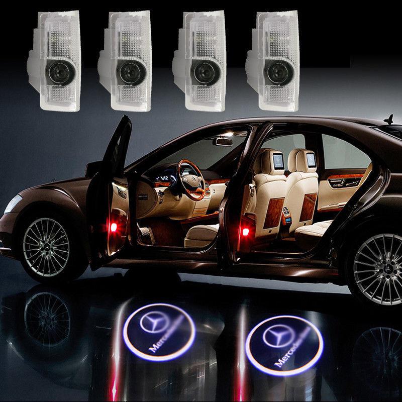 MERCEDES 2x LED Auto Deur Licht Projector Logo - AMP POWER EDE